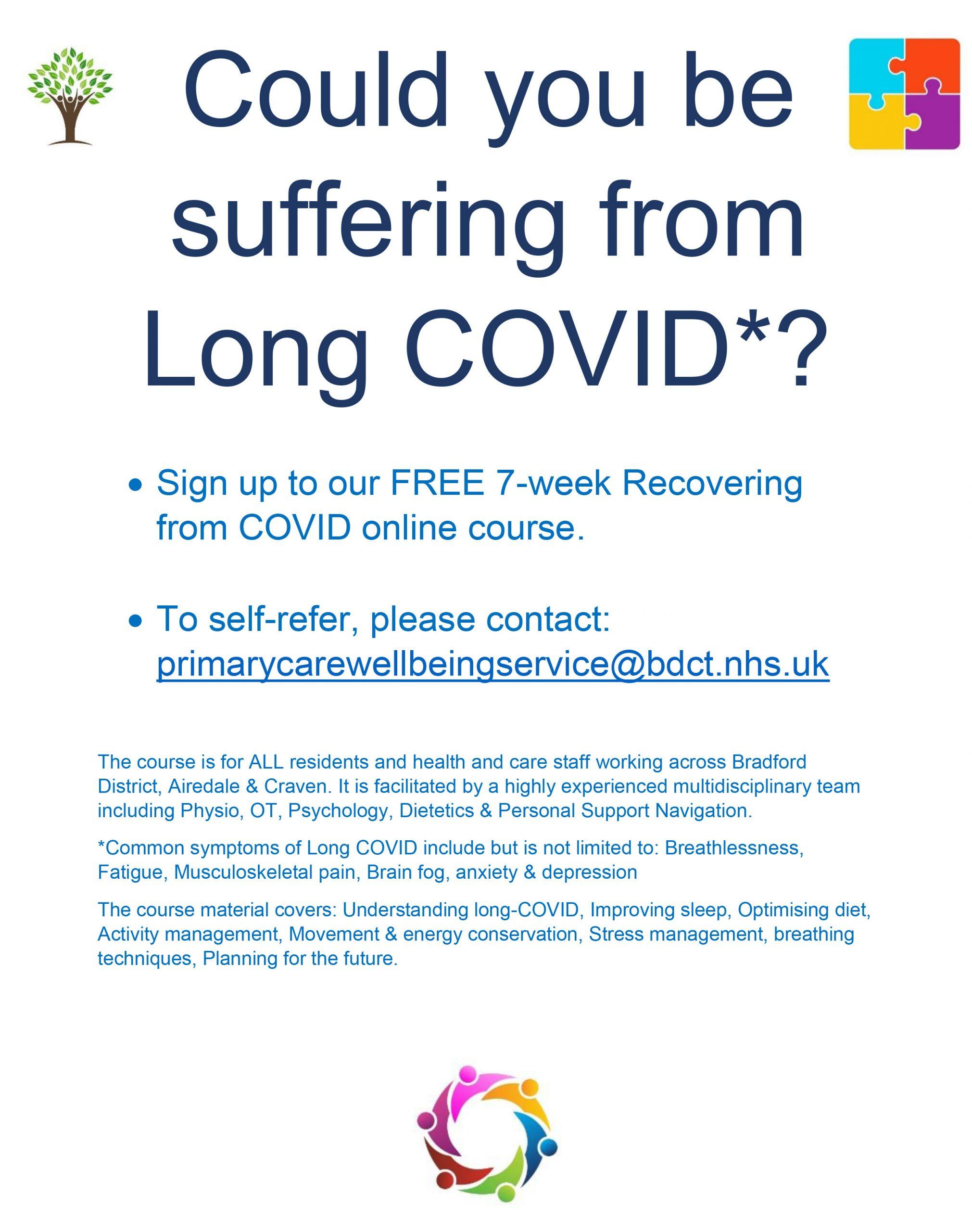 COVID course poster